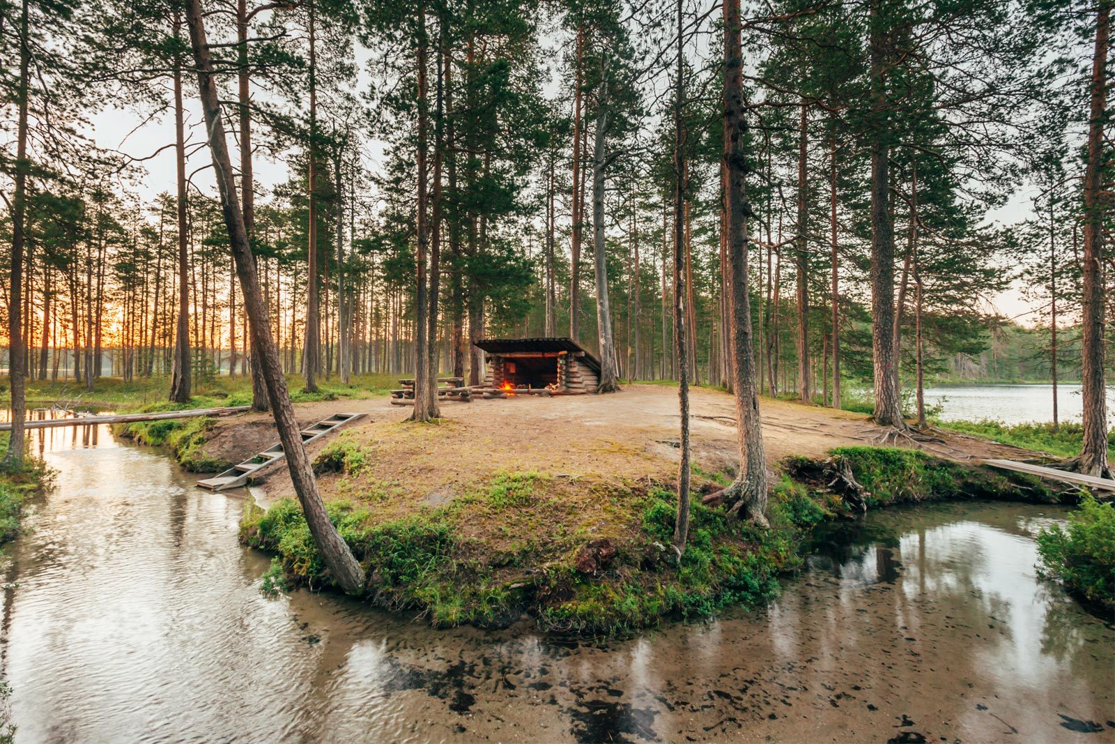 erämaa luonto hossa kansallispuisto wild taiga